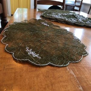 Large Set of Lace Placemats & Coasters